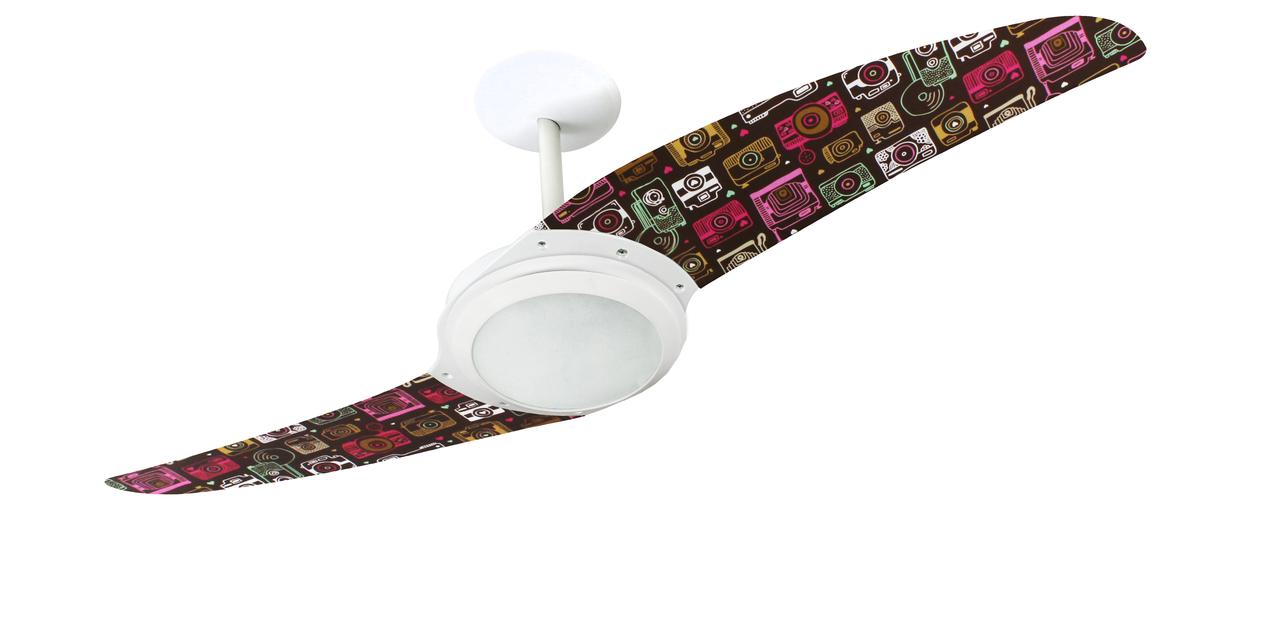ventilador de teto Spirit - Blog Myspirit - quarto com decoração rústica - ventilador de teto moderno para quarto