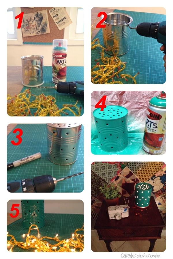 Ventilador de teto Spirit - Blog Myspirit - luminária de mesa com lata de leite - como fazer luminária