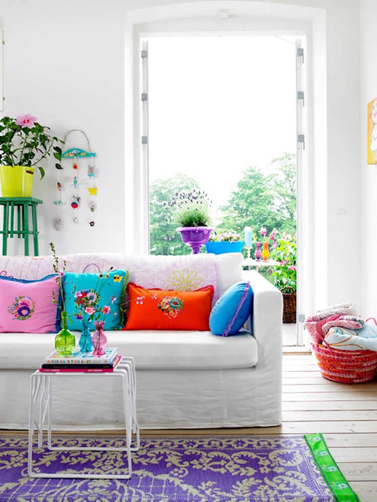 Ventilador de teto Spirit - Blog Myspirit - sala colorida - decorar a casa na primavera