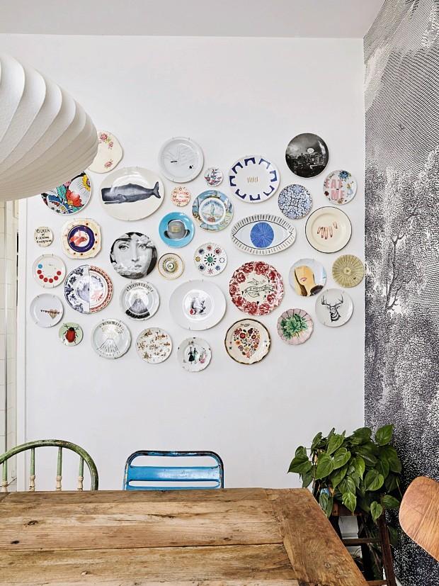 ventilador de teto Spirit - Blog Myspirit - pratos de porcelana na parede - dicas de decoração