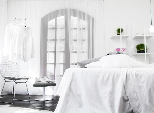 ventilador de teto Spirit - Blog Myspirit - quarto de casal com decoração clean - dicas de decoração