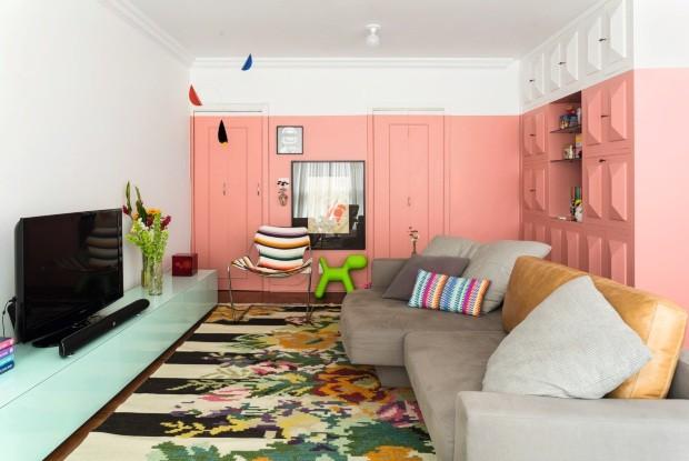 ventilador de teto Spirit - Blog Myspirit - sala rosa e branca - dicas de decoração