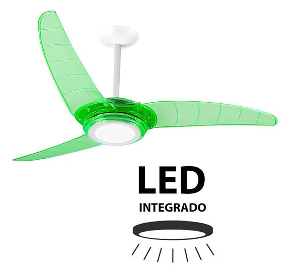 Ventiladores e luminárias Spirit - Blog Myspirit - Ventilador de Teto Spirit 303 Verde Neon LED
