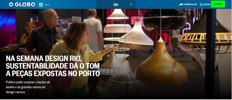 ventilador de teto Spirit - Blog Myspirit - Jornal O Globo - luminárias Spirit Combine - luminárias Spirit Combine no jornal O Globo - Semana Design Rio 2017