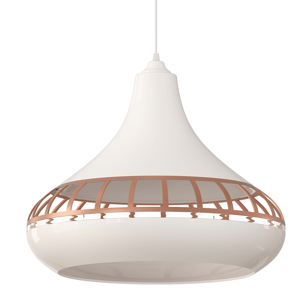 Ventilador de teto Spirit - Blog Myspirit - Luminária SPIRIT Combine - Luminária Pendente SPIRIT Combine 1420 Branco/Bronze/Branco - Luminária pendente