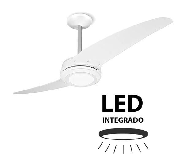 Ventiladores e luminárias Spirit - Blog Myspirit - Ventilador de Teto Spirit 203 Branco Led - usar ventilador de teto junto com ar-condicionado