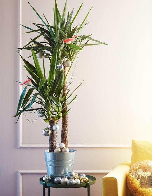 ventilador de teto Spirit - Blog Myspirit - decorar uma planta com enfeites de Natal - decoração de Natal simples e barata