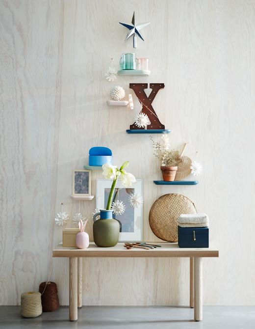 ventilador de teto Spirit - Blog Myspirit - árvore de Natal feita com objetos - decoração de Natal simples e barata