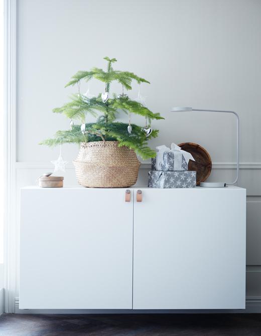 ventilador de teto Spirit - Blog Myspirit - mini pinheiro - decoração de Natal simples e barata