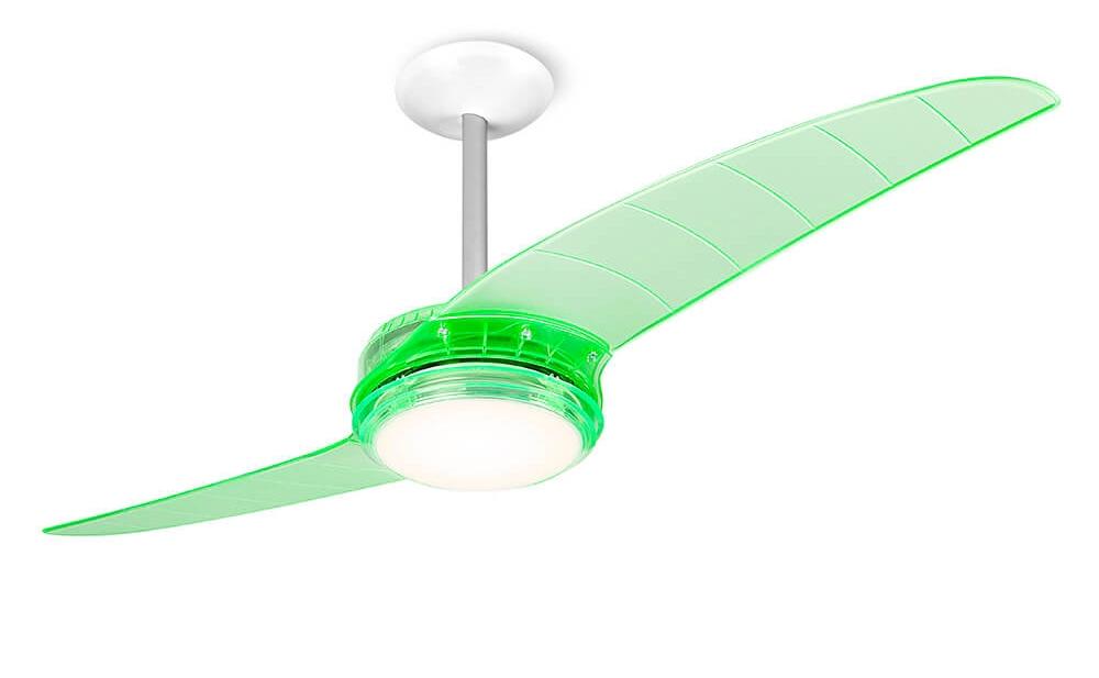 ventilador de teto Spirit - Blog Myspirit - Ventilador de Teto Spirit 203 Verde Neon Lustre Flat - ideias para decoração de Natal