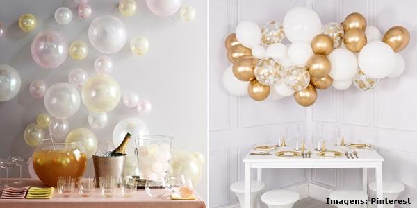 Ventiladores e luminárias Spirit - Blog Myspirit - decoração de ano novo com balões - decoração de ano novo simples e barata
