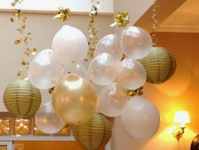 ventilador de teto Spirit - Blog Myspirit - decoração de ano novo com balões - decoração de ano novo simples e barata