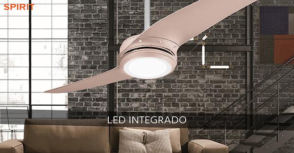 Ventiladores e luminárias Spirit - Blog Myspirit - ventilador de teto Spirit Wind 203 - Titanium Bronze - economizar energia elétrica
