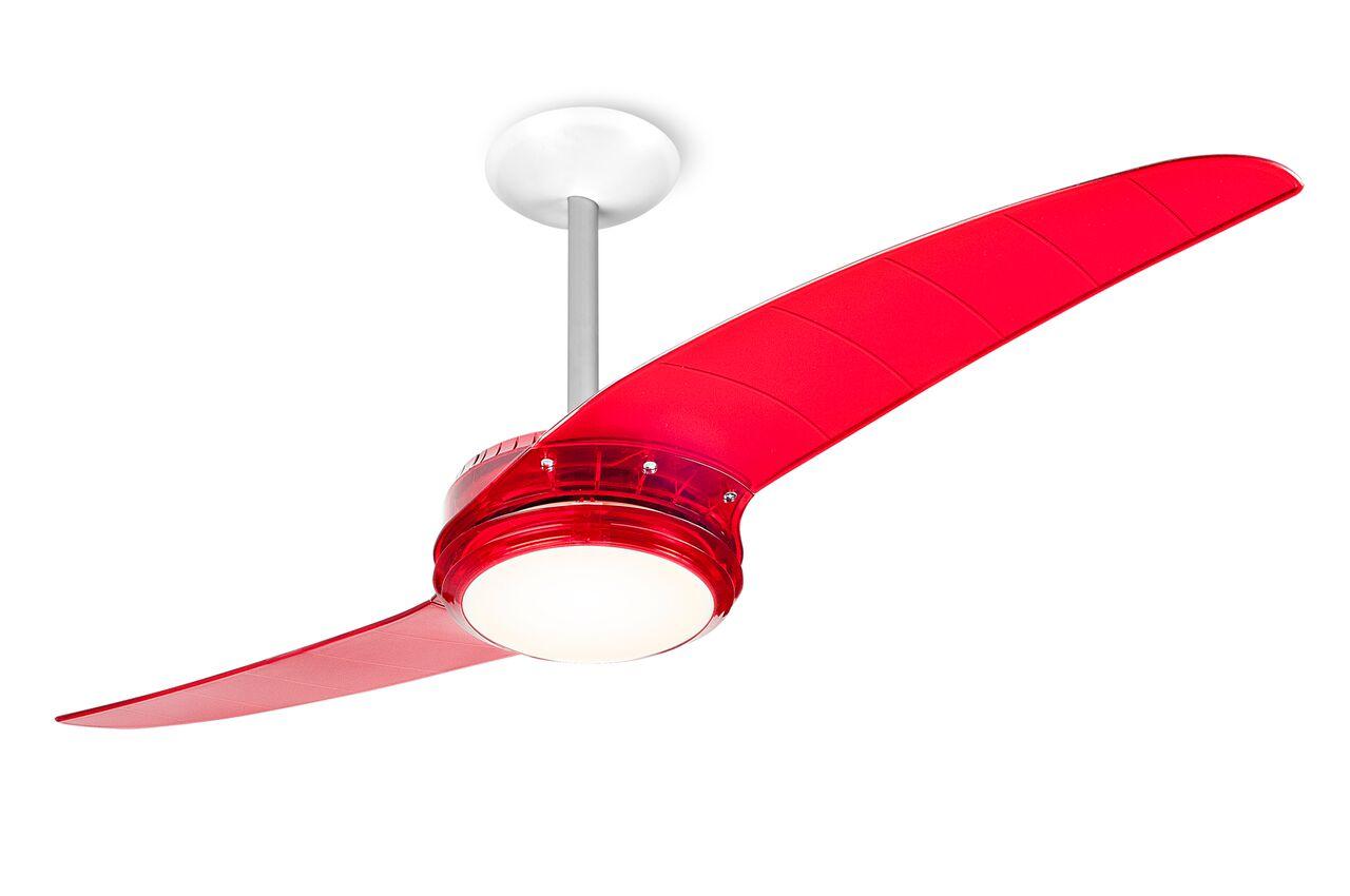 ventilador de teto Spirit - Blog Myspirit - Ventilador de Teto Spirit 203 Vermelho Lustre Flat - economizar energia elétrica
