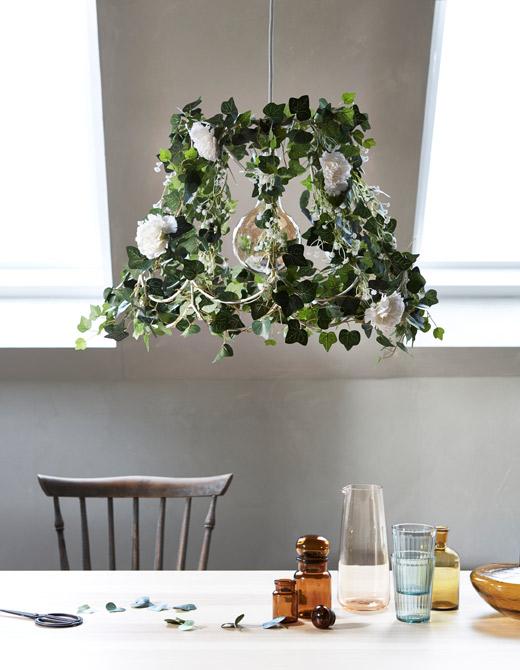 ventilador de teto Spirit - Blog Myspirit - lustre decorado com flores - plantas dentro de casa