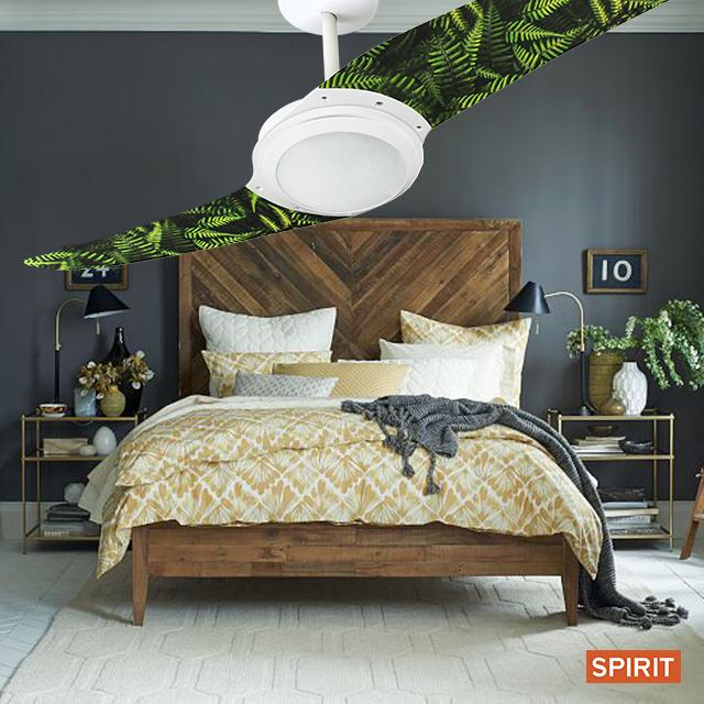ventilador de teto Spirit - Blog Myspirit - quarto com ventilador de teto Spirit - plantas dentro de casa
