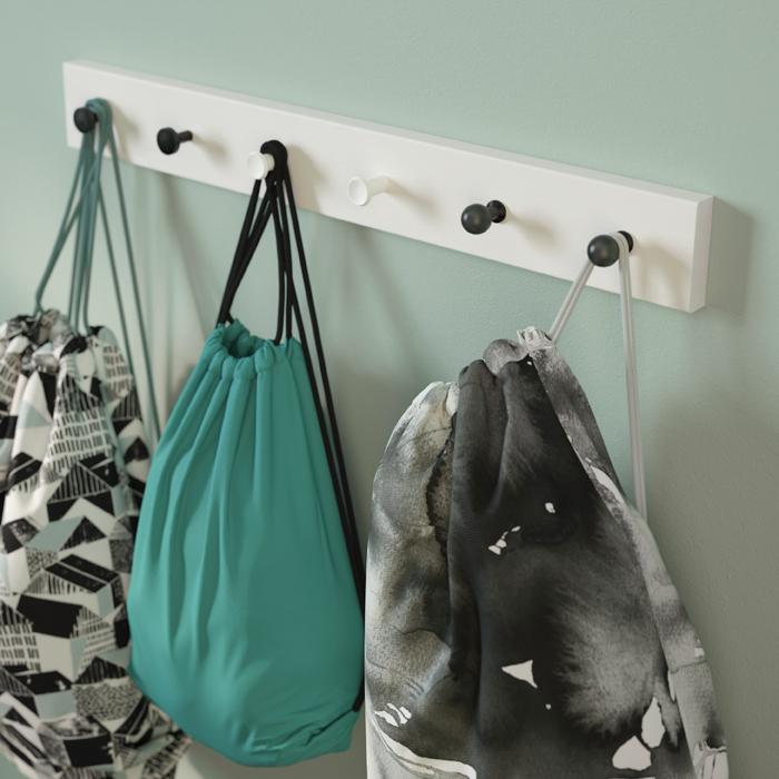 ventilador de teto Spirit - Blog Myspirit - pendurar bolsas em ganchos de parede - dicas para organizar seu dia