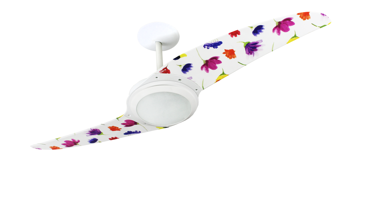 ventilador de teto Spirit - Blog Myspirit - Ventilador de Teto Spirit 203 Natureza Flores Coloridas L41 Lustre Flat - ventilador de teto para quarto de visitas - quarto de visitas