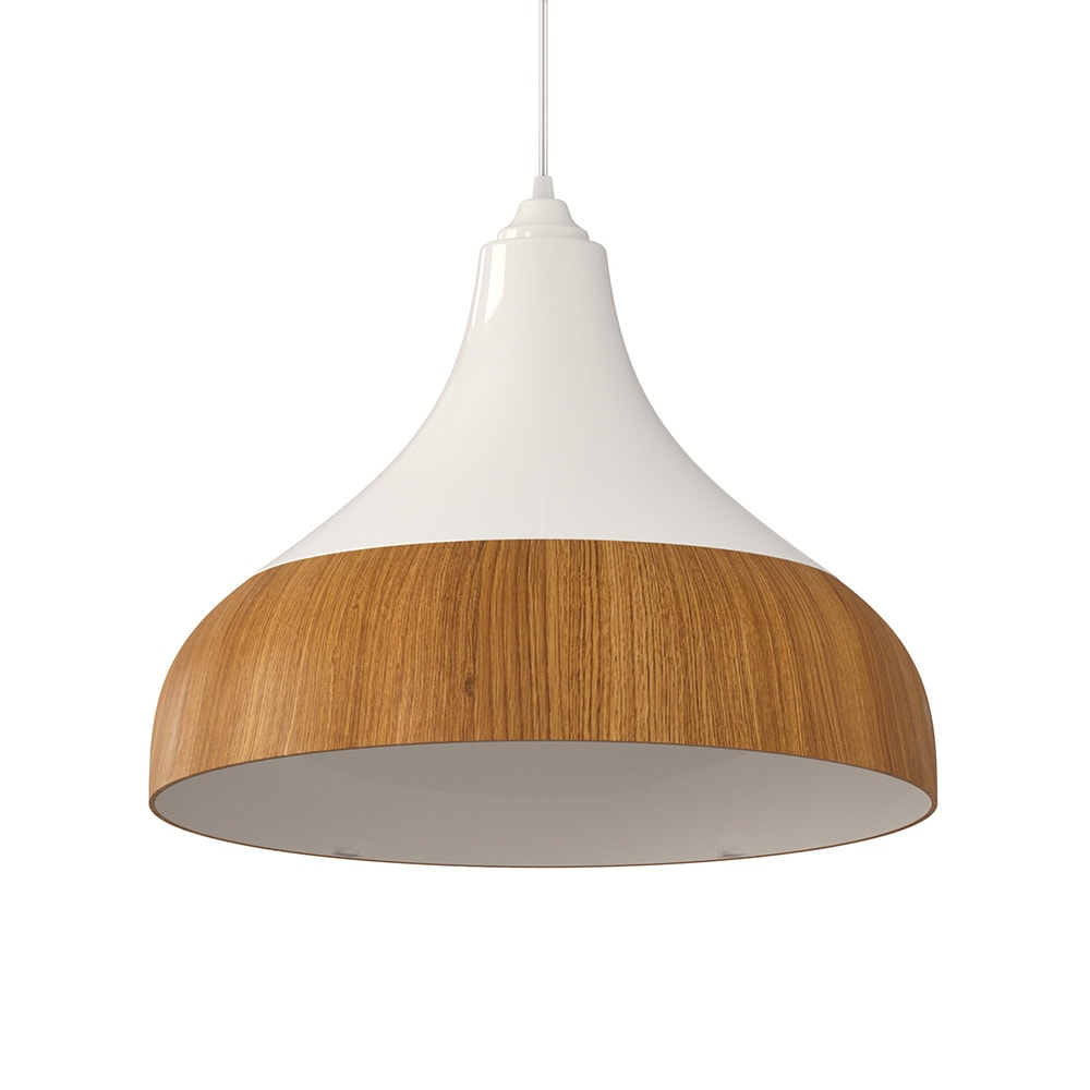 Ventilador de teto Spirit - Blog Myspirit - Luminária SPIRIT Combine - Luminária Pendente Spirit Combine 1300 Branca/Caramelo - Luminária pendente