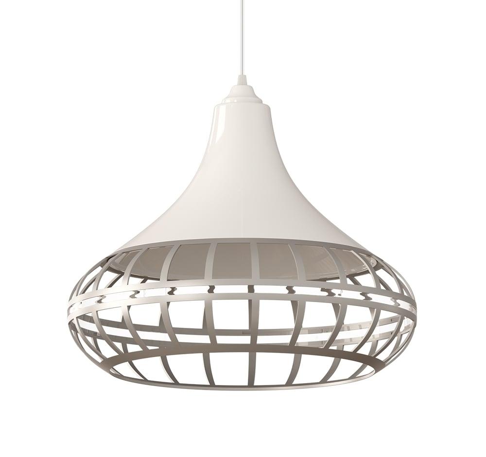 ventilador de teto Spirit - Blog Myspirit - Luminária Pendente Spirit Combine 1440 Branca/Prata/Prata - como decorar o primeiro apartamento