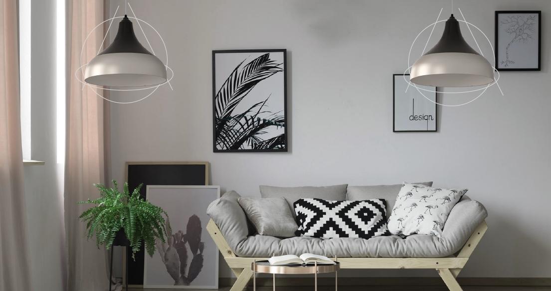ventilador de teto Spirit - Blog Myspirit - sala decorada com Combine - como decorar o primeiro apartamento