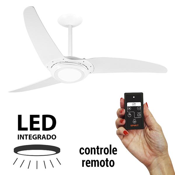 Ventiladores e luminárias Spirit - Blog Myspirit - Ventilador de Teto Spirit 303 Branco LED Controle Remoto - dormir com o ventilador de teto ligado