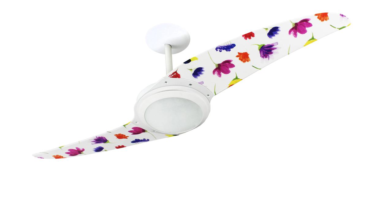 ventilador de teto Spirit - Blog Myspirit - Ventilador de Teto Spirit 203 Natureza Flores Coloridas L41 Lustre Flat - dormir com ventilador de teto ligado