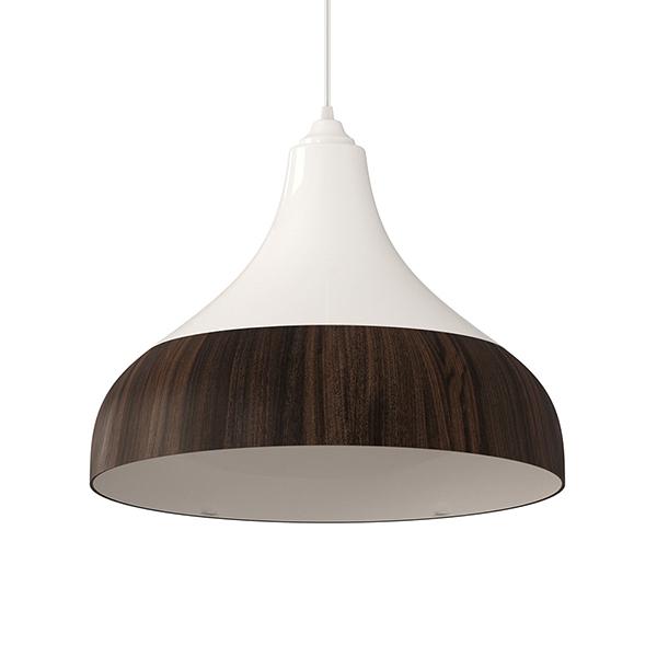 Luminária pendente Spirit Combine - Luminária Pendente Spirit Combine 1300 Branca/Tabaco - como fazer uma decoração elegante
