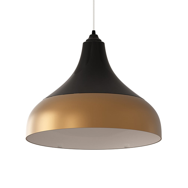 Luminária Pendente Spirit Combine - Luminária Pendente Spirit Combine 1300 Preta/Dourada - Coo fazer uma decoração elegante