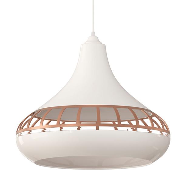 Luminária pendente spirit Combine - Luminária Pendente SPIRIT Combine 1420 Branco/Bronze/Branco - como fazer uma decoração elegante