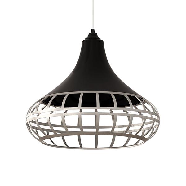 Luminária pendente Spirit Combine - Luminária Pendente Spirit Combine 1440 Preta/Prata/Prata - como fazer uma decoração elegante