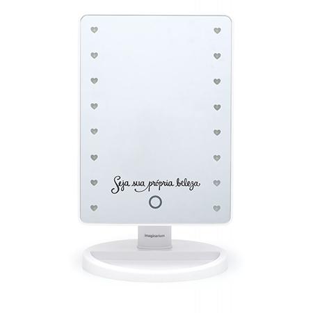 Luminária pendente Spirit Combine - espelho com led - presente para o dia dos namorados - dia dos namorados