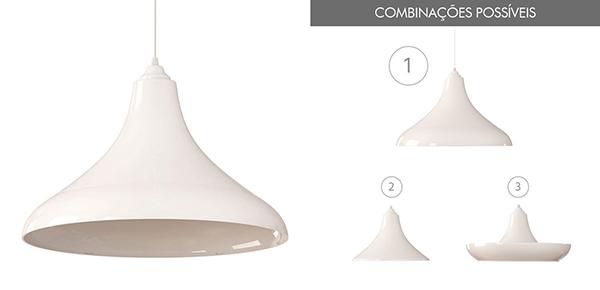 Ventiladores e luminárias Spirit - Blog Myspirit - Luminária Pendente Spirit Combine 1200 Branca - luminária pendente Combine - luminária pendente branca