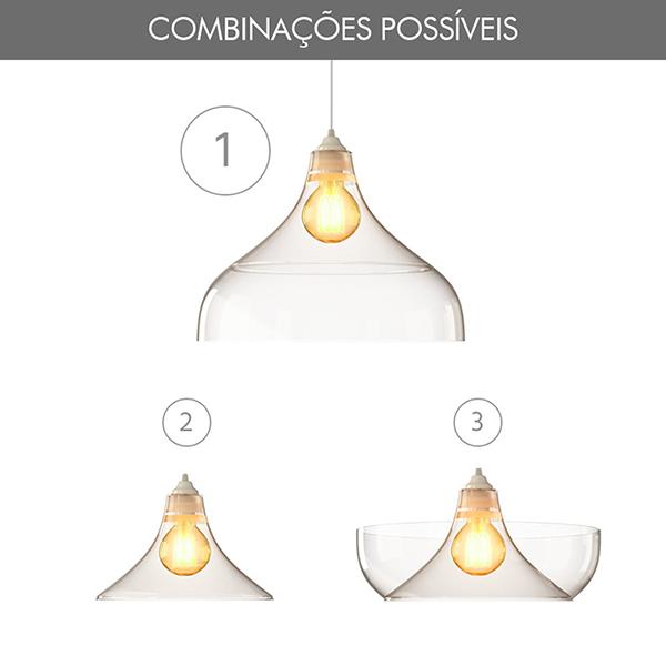 luminária pendente Spirit Combine - Blog Myspirit - possíveis combinações - Luminária Pendente Spirit Combine 1300 Transparente