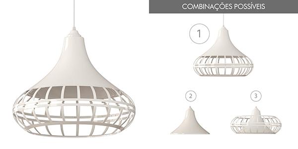 Ventiladores e luminárias Spirit - Blog Myspirit - Luminária Pendente Spirit Combine 1440 Branca - luminária pendente Combine - luminária pendente branca
