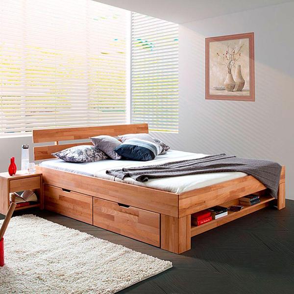 Ventiladores e Luminárias Spirit - Blog Myspirit - cama com compartimentos - decoração de quarto de casal pequeno