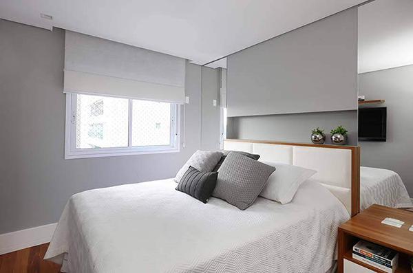 Ventiladores e luminárias Spirit - Blog Myspirit - decoração de quarto minimalista - decoração de quarto de casal pequeno