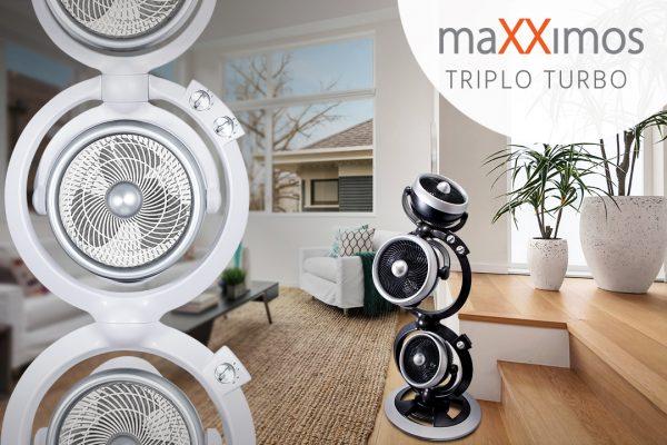 Ventiladores e luminárias Spirit - Blog Myspirit - ventilador torre - ventilador Triplo Turbo Maxximos