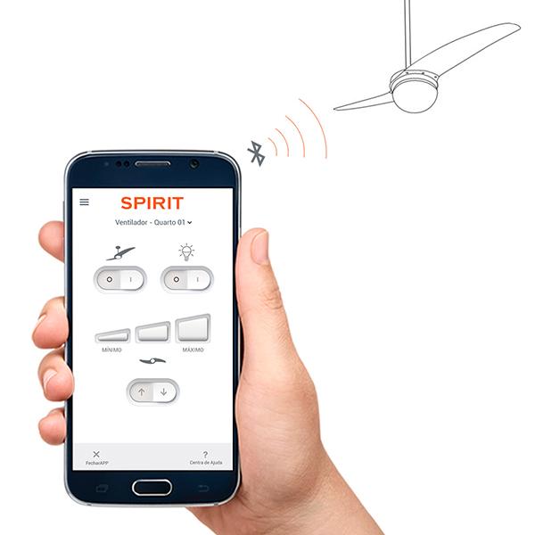 Ventiladores e luminárias Spirit - Blog Myspirit - ventilador de teto controlado por bluetooth - inovação