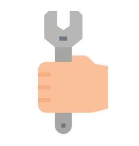 Ventiladores e luminárias Spirit - Blog Myspirit - mao segurando chave de boca - ventilador de teto balança