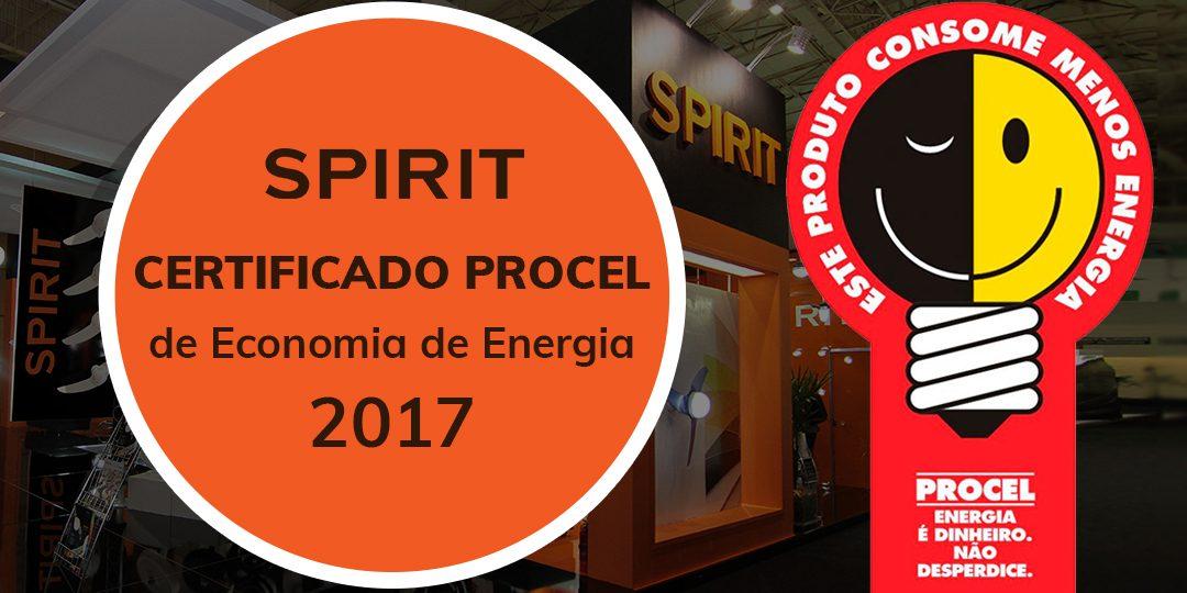 Ventiladores e luminárias Spirit - Blog Myspirit - capa blog - certificado Procel 2017