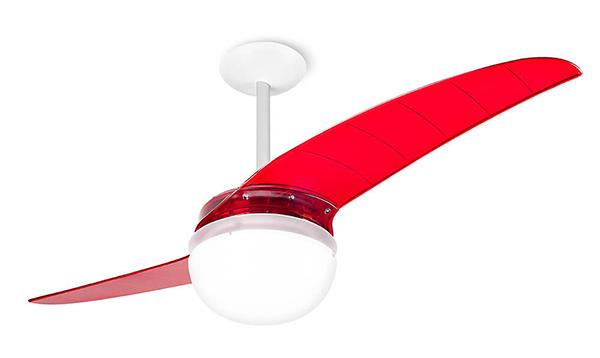 Ventiladores e luminárias Spirit - Blog Myspirit - Ventilador de Teto Spirit 202 Vermelho Lustre Globo - diy para o natal