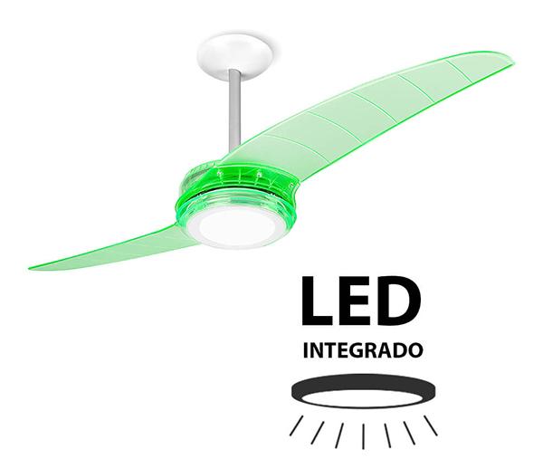 Ventiladores e luminárias Spirit - Blog Myspirit - Ventilador de Teto Spirit 203 Verde Neon LED Controle Remoto - certificado Procel 2017