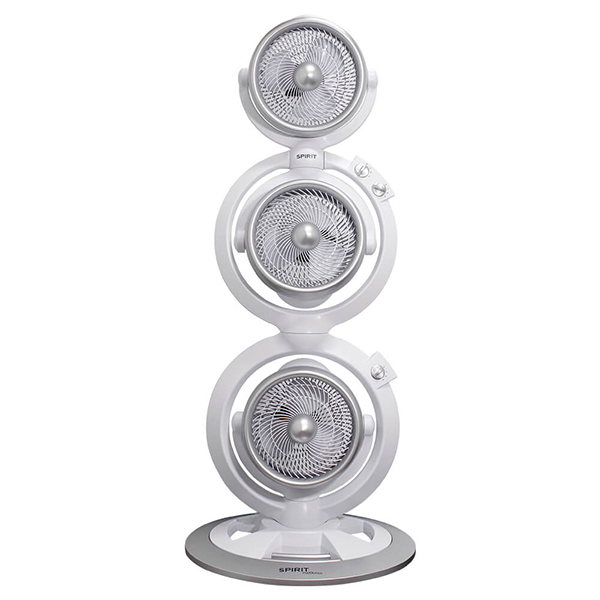 Ventiladores e luminárias Spirit - Blog Myspirit - Ventilador Torre Spirit Maxximos Triplo Turbo White Steel - máscara de carnaval