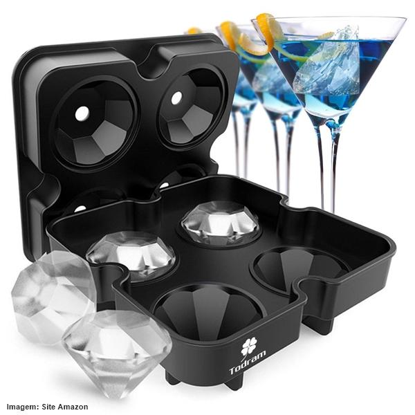 Ventiladores e luminárias Spirit - Blog Myspirit - gelo em formato de diamante - itens diferentes com a cara do verão