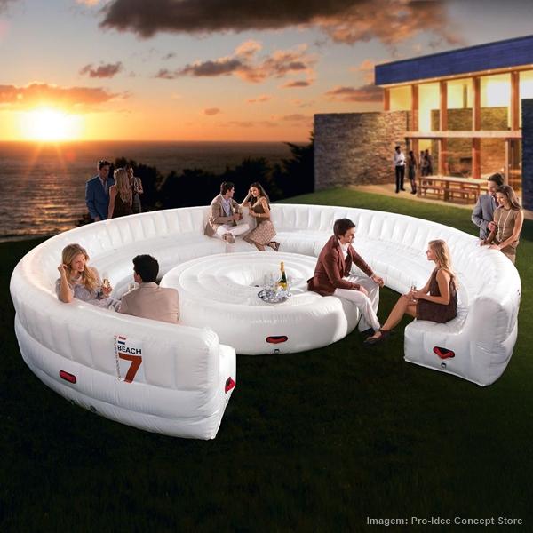 Ventiladores e luminárias Spirit - Blog Myspirit - sofá inflável - itens diferentes que são a cara do verão
