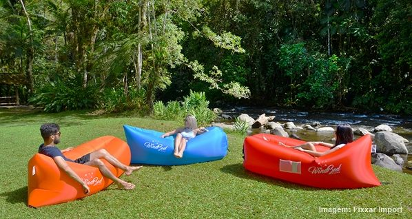 Ventiladores e luminárias Spirit - Blog Myspirit - assento inflável - Windbed - itens diferentes com a cara do verão