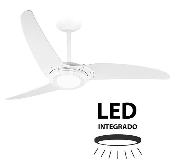 Ventiladores e luminárias Spirit - Blog Myspirit - Ventilador de Teto Spirit 303 Branco Led - ventilador de teto silencioso para dormir