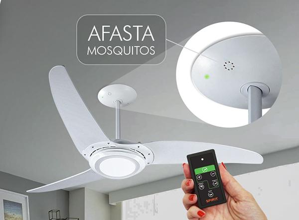 Ventiladores e luminárias Spirit - Blog Myspirit - Ventilador de Teto Spirit 303 Branco LED Repelente Controle Remoto - ideias de presentes para o Dia dos Pais