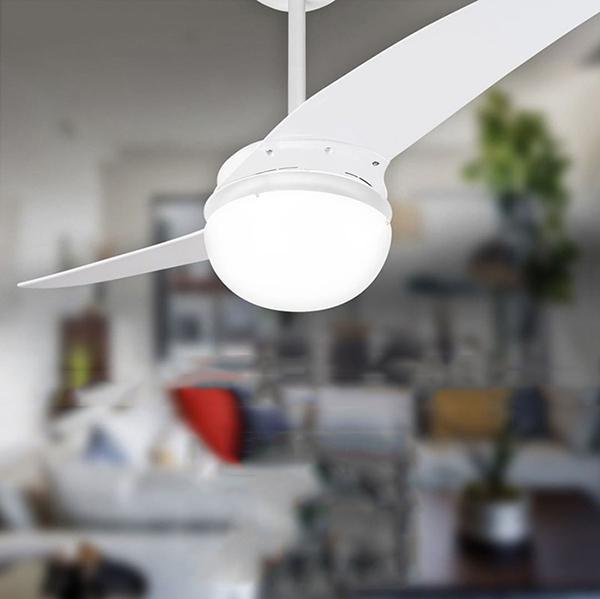 Ventiladores e luminárias Spirit - Blog Myspirit - Ventilador de Teto Spirit 202 Branco Lustre Globo - ideias de presentes para o Dia dos Pais